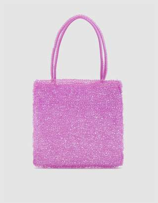 Maryam Nassir Zadeh Valentina Knit Bag in Thistle