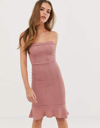 d0b412eb9e In The Style Billie Faiers bandeau bandage dress