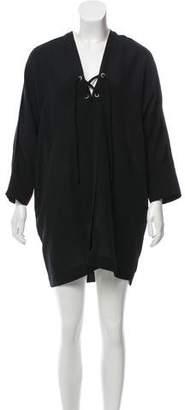 IRO Alessi Lace-Up Dress