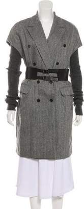 Elizabeth and James Wool Knee-Length Coat