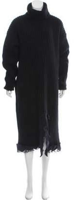 Balenciaga Chunky Wool Dress Black Chunky Wool Dress