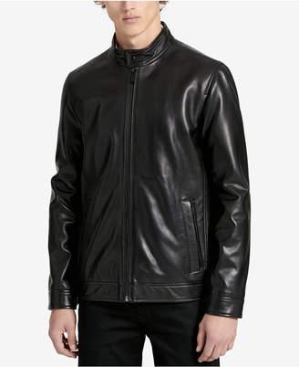 Calvin Klein Men's Classic Leather Jacket