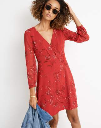 Madewell Hazelwood Wrap-Front Mini Dress in Windswept Floral
