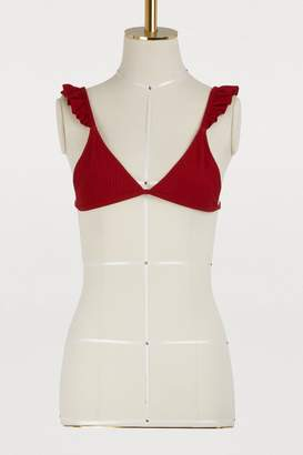 Made By Dawn Bikini top with ruffles