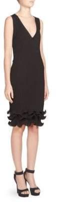Givenchy Knit Ruffled Dress