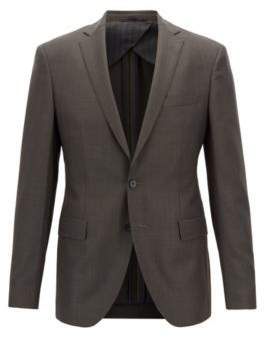 BOSS Extra-slim-fit virgin-wool blazer with micro pattern
