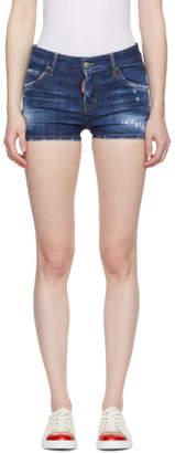 DSQUARED2 Blue Cool Girl Denim Shorts