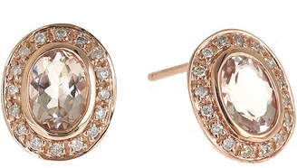 JCPenney FINE JEWELRY LIMITED QUANTITIES Genuine Morganite and 1/5 CT. T.W. Diamond Earrings
