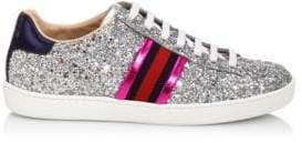 Gucci New Ace Glitter Sneakers