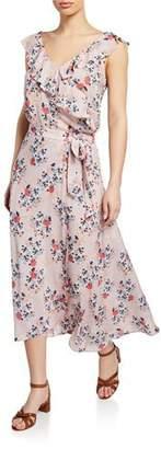 Velvet Isadora Floral Wrap Midi Skirt