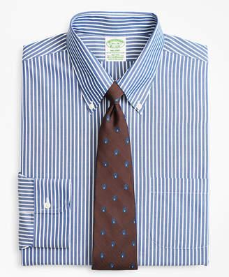 Brooks Brothers Stretch Milano Slim-Fit Dress Shirt, Non-Iron Ground Stripe