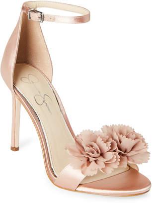 Jessica Simpson Nude Blush Jeena Floral High-Heel Sandals