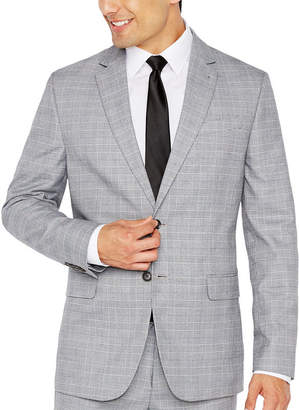 Jf J.Ferrar JF Black White Glen Plaid Jacket-Slim