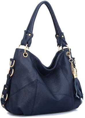 fd703877cc Hoxis New Trend Ladies Tassel Faux Leather Hobo Shoulder Handbag Women Tote