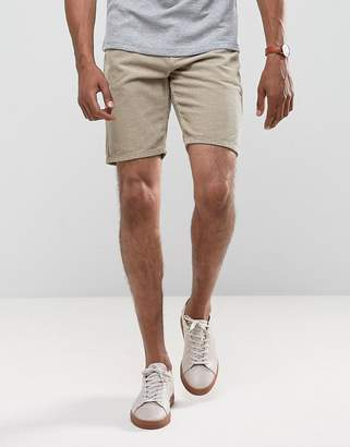 Asos Cord Shorts In Stone