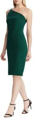 Lauren Ralph Lauren One-Shoulder Cocktail Dress