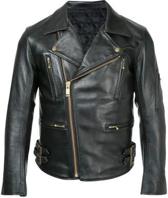 Blackmeans Black Means zipped leather jacket