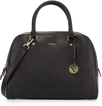 Furla Elena Medium Leather Satchel Bag, Onyx $320 thestylecure.com