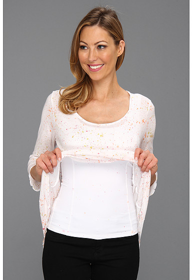 Miraclebody Jeans Sarah Pocket Tee w/ Body-Shaping Inner Shell