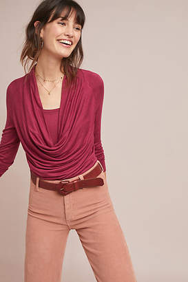 Pure + Good Jersey Cowl Neck Top