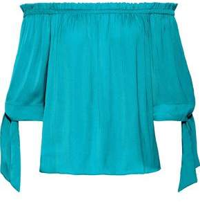 Tart Collections Off-the-shoulder Satin Top