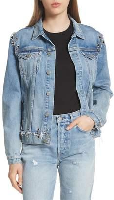 GRLFRND Gia Grommet Denim Jacket