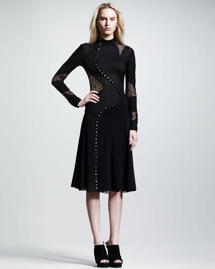 Proenza Schouler Long-Sleeve Pieced Dress