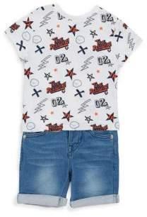 True Religion Baby's Logo Tee & Jean Shorts