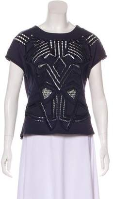 Tibi Embroidered Sleeveless Top
