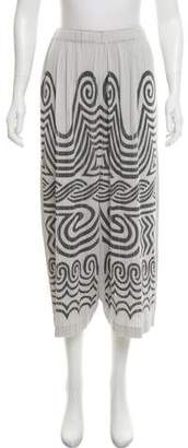 Pleats Please Issey Miyake Printed High-Rise Shorts