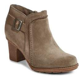 Clarks Collection By Zip-Up Leather Booties