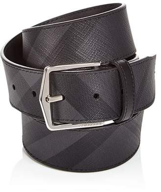 Burberry Joe London Check Leather Belt