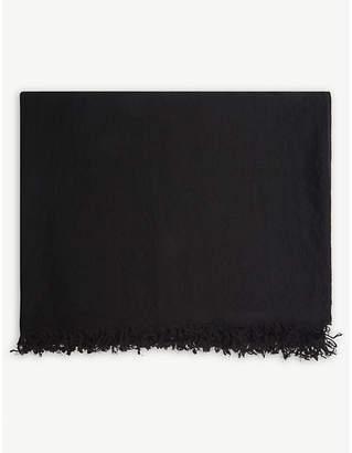 Rick Owens Sisyphus cashmere blanket scarf