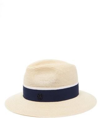 Maison Michel Henrietta Straw Hat - Womens - Navy