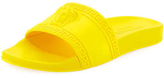 Versace Men's Medusa & Greek Key Shower Slide Sandals