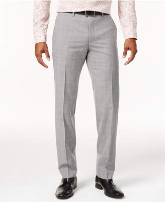 Bar III Men's Slim-Fit Light Gray Plaid Suit Pants, Only at Macy's $175 thestylecure.com