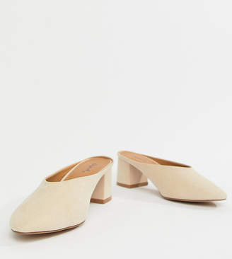 Qupid Pointed Heeled Mules