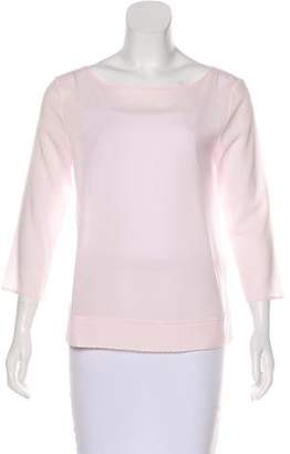 French Connection Long Sleeve Scoop Neck Top