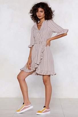 Nasty Gal Stripe and Ready Wrap Dress
