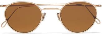 Eyevan 7285 - Round Frame Gold-tone Sunglasses