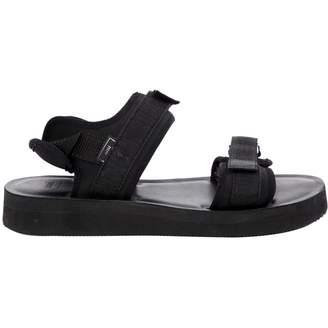 Ami Black Cloth Sandals