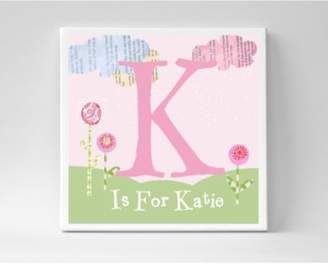 Someday Inc. 'Letter' Personalized Canvas Wall Art