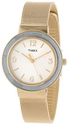 Timex Women's T2P197KW Ameritus Gold-Tone Stainless Steel Mesh Bracelet Dress Watch