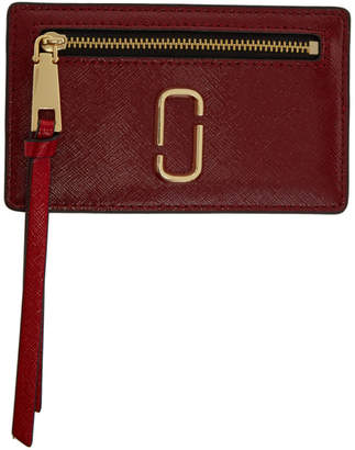 Marc Jacobs Red Snapshot Zip Card Holder