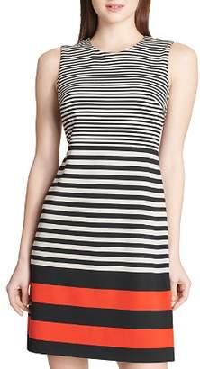 Calvin Klein Striped Ponte Dress