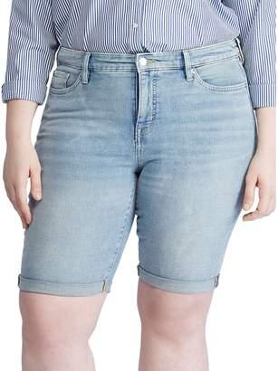 Lauren Ralph Lauren Plus Mid-Rise Denim Bermuda Shorts