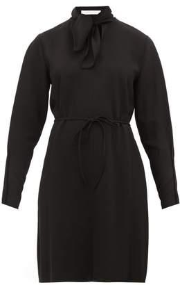 See by Chloe Tie Neck Crepe Dress - Womens - Black