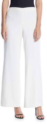 Lafayette 148 New York Wide-Leg Side Zip Cotton Pants