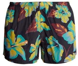 Prada Havana Print Swim Shorts - Mens - Black Multi