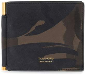 Tom Ford camouflage print billfold wallet